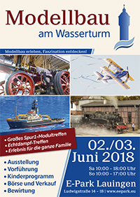 Modellbau am Wasserturm 2018 – 2./3. Juni in Lauingen
