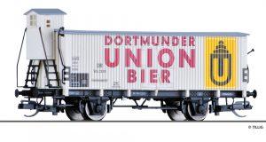 "Tillig Art.-Nr.: 17373 Kühlwagen ""Dortmunder Union Bier"", eingestellt bei der DB, Ep. III"