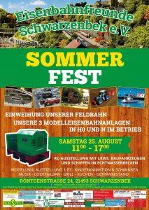 Eisenbahnfreunde Schwarzenbeck – Sommerfest am 25. August
