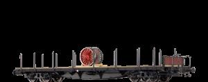 """BRAWA Schienenwagen SSLMA 44 der BRIT-US-ZONE, mit Lagegut """"Dampflokradsatz"""""""