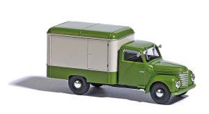 BUSCH - Framo V901/2 Kofferwagen, Grün/Beige 52000