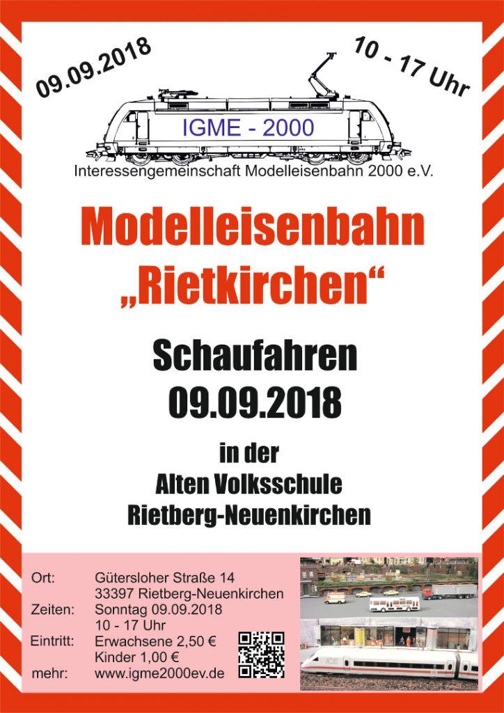 Schaufahren am 9. September bei der Modelleisenbahn Rietkirchen