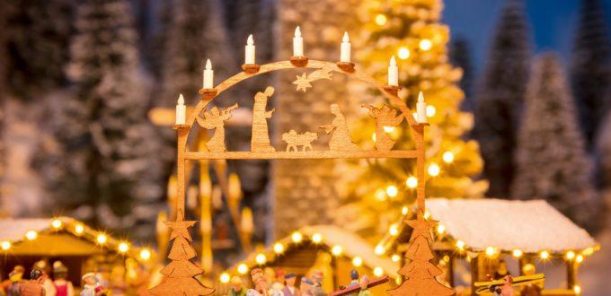 NOCH Weihnachtsmarkt Eingang