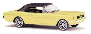 BUSCH - Ford Mustang Cabrio mit Softtop, Gelb 47524
