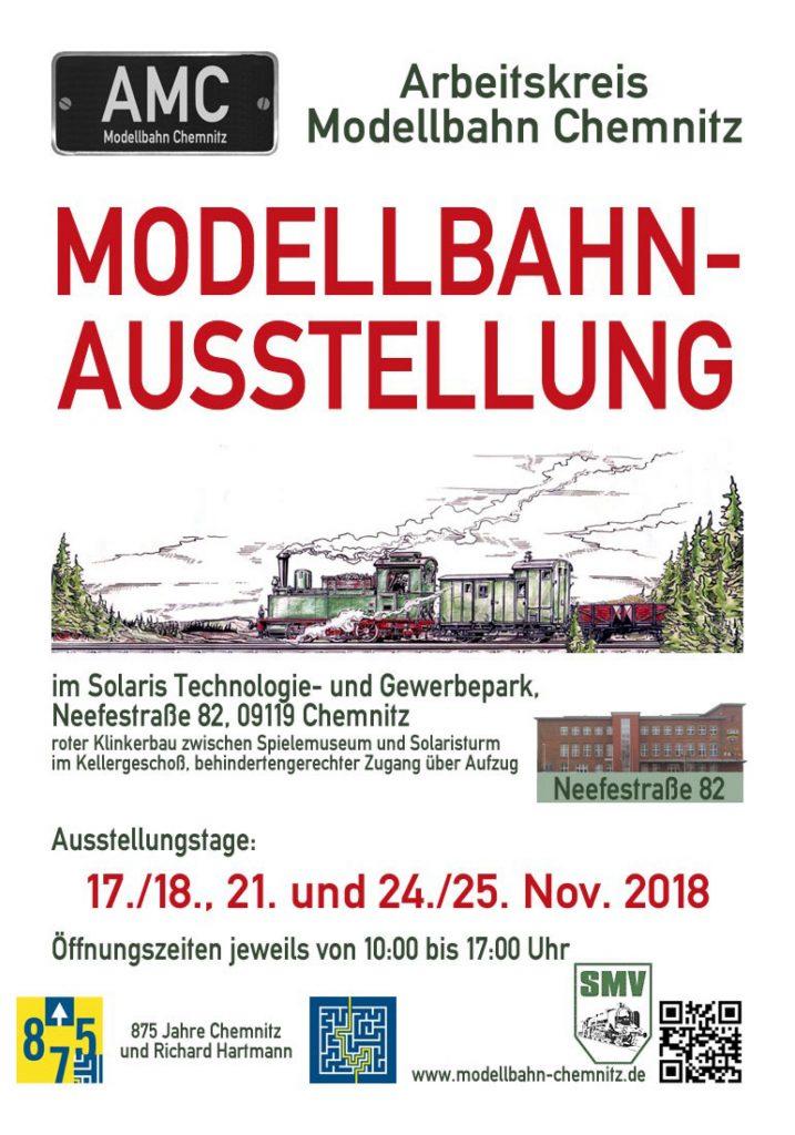Modellbahn-Ausstellung vom Arbeitskreis Modellbahn Chemnitz im November 2018
