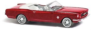 BUSCH - 47513 Ford Mustang Cabrio »Metallica«, Rot