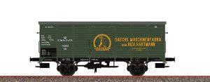 """BRAWA 67465 Gedeckter Güterwagen Gm """"Sächsische Maschinenfabrik vorm. Hartmann"""" der K.S.St.E.B., Ep. I"""