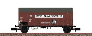 """BRAWA 67323 Gedeckter Güterwagen Gmhs """"Borsig Lokomotivwerke"""" der DRG Ep. II"""