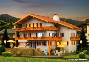 kibri - 38077 H0 Alpenhof inkl. Etageninnenbeleuchtung, Funktionsbausatz