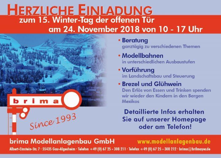 brima Modellanlagenbau – Tag der offenen Tür 24. November 2018