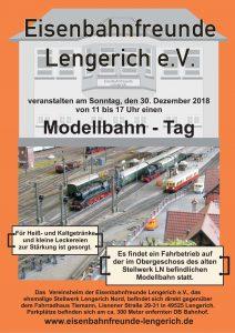 Modellbahn-Fahrtag bei den Eisenbahnfreunden Lengerich am 30.12.2018