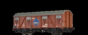 """BRAWA - 47272 - Gedeckter Güterwagen Glmhs 50 """"Afri Cola"""" der DB"""