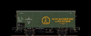 """BRAWA - Gedeckter Güterwagen Gm """"Sächsische Maschinenfabrik vorm. Hartmann"""" der K.S.St.E.B., Ep. I"""