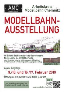 Modellbahnausstellung des AMC im Februar 2019 in Chemnitz