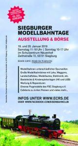 Siegburger Modellbahntage 2019 am Wochenende 19. und 20. Januar