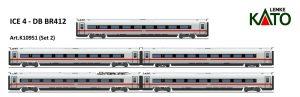 Kato K10951 – Ergänzung für Baureihe 412 der DB AG, 5-tlg. für die Epoche VI