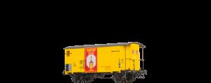 """BRAWA - 67859 Gedeckter Güterwagen K2 """"Maggi """" der SBB Ep. III"""