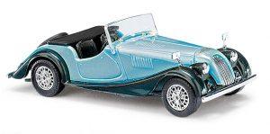 BUSCH - 47145  Morgan Plus 8 Cabrio offen Zweifarbig, Blau