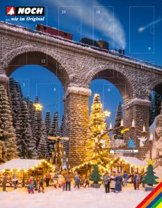 NOCH Bastel-Adventskalender »Weihnachtsmarkt« Spur H0