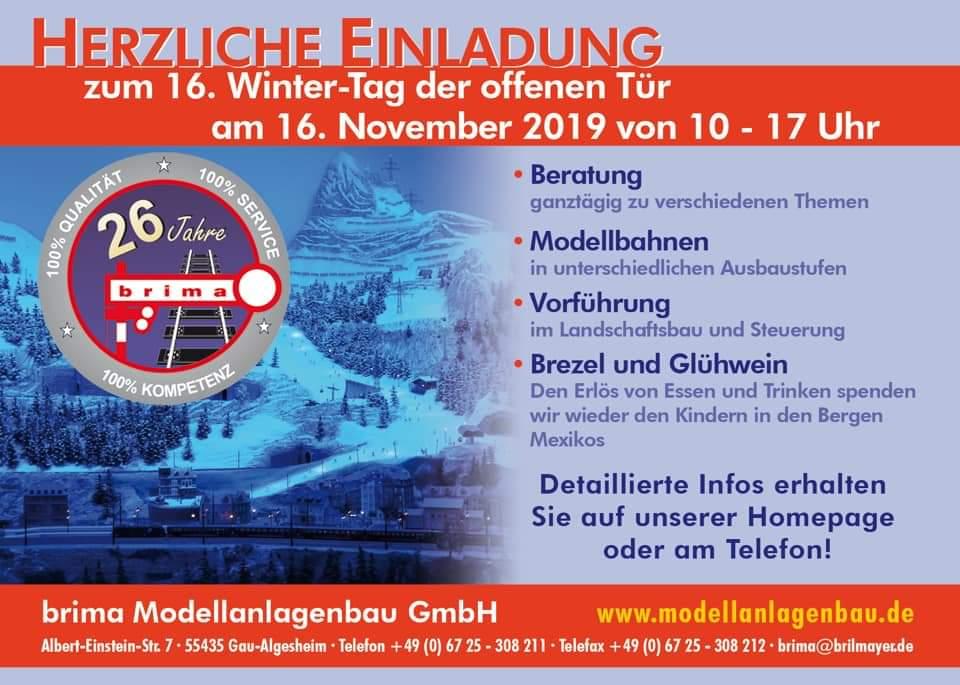 brima Modellanlagenbau – Tag der offenen Tür – 16. November 2019