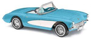 BUSCH Chevrolet Corvette Cabrio 56,offen, Blau 45411