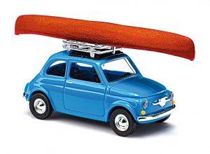BUSCH Fiat 500 mit Kanu MIKROLÄNDER 48729