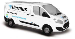 BUSCH 52410  Ford Transit Custom Kastenwagen, Hermes Versand