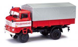 BUSCH ESPEWE: IFA W50 LA/PV Feuerwehr + Plane 95249