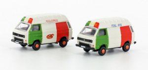 LEMKE MINIS LC4307 VW T3 2er Set Eis-/ Pizza Wagen für Spur N