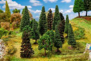 FALLER 181529 Mischwaldbäume, sortiert für Spur H0/N