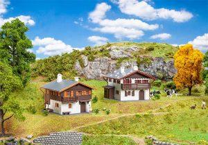 FALLER 190162 Aktions-Set Alpenhäuser in Spur H0