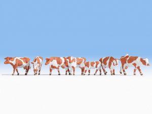 NOCH 15726 Kühe, braun-weiß in Spur H0