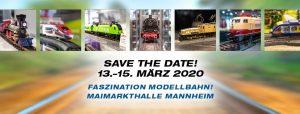 Reloaded in der Maimarkthalle Mannheim: 100% Faszination Modellbahn vom 13.-15. März 2020!