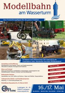 Modellbahn am Wasserturm / KM1 Sommerfest am 16./17. Mai in Lauingen