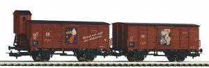 PIKO #58373 2-er Set Gedeckter Güterwagen Fit DR III