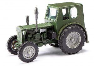 BUSCH 210006402 Traktor Pionier RS 01, Dunkelgrün