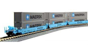 KAT-LEMKE K1066198 5er Set Containerwagen Maxi-I Maersk, Ep.V