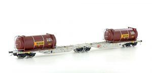 MEHANO Containertragwagen Sggmrss 90 HUPAC 2x Bertschi Tankcontaine