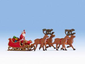 NOCH 15924 Weihnachtsmann mit Schlitten in Spur H0