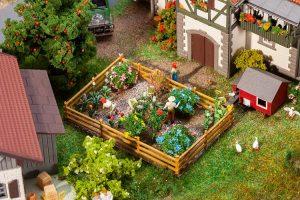 FALLER 181276 Ziergarten mit Blumen und Büschen für Spur H0