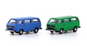 MINIS LC4330 2tlg. Set VW T3 Bus blau + grün für Spur N