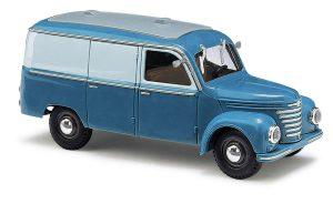 BUSCH 51202 Framo V901/2 Kastenwagen, Blau/Grau