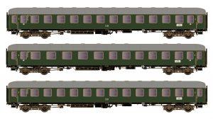 3tlg Wagen-Set D83/41 2xC4ümg+BC4ümg DB, Ep.III