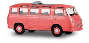 BUSCH/DreiKa 94175 Goliath Express 1100 Luxusbus / geöffnetes Stoffschiebedach, Hellkoralle